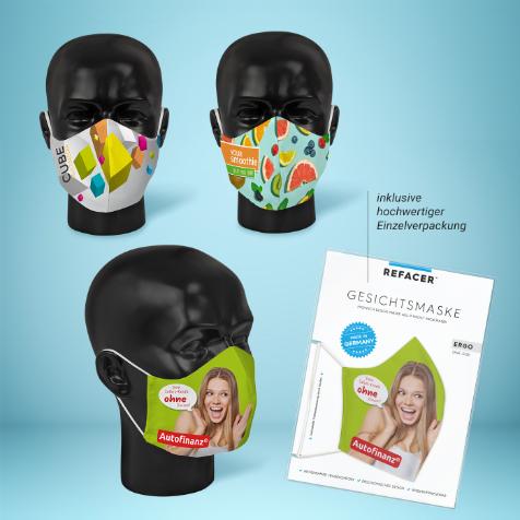 Personalisierte Mund-Nasenmasken Designmasken